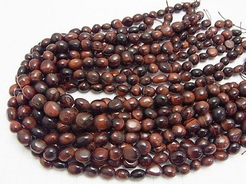 1strand $5.79! Red Tiger Eye AA ++ Nugget 1strand (aprx.15inch / 38cm)