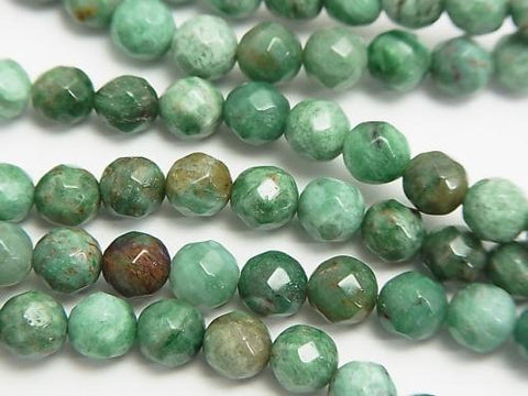 1strand $8.79! Green Dragon Blood Jasper 64Faceted Round 6mm 1strand (aprx.15inch / 38cm)