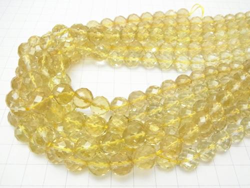Lemon Quartz AAA 64Faceted Round 10mm half or 1strand (aprx.15inch/37cm)