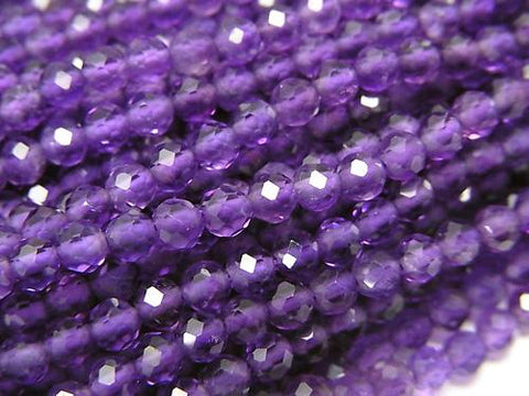 Diamond Cut!  1strand $9.79! Amethyst AAA 32Faceted Round 3mm 1strand (aprx.15inch/37cm)