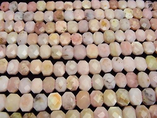 Pink Opal AA Flat Faceted Nugget 16 x 12 x 6 mm half or 1 strand (aprx.15 inch / 38 cm)