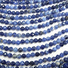 1strand $8.79! Diamond Cut!  Sodalite AA++ Faceted Round 4mm  1strand (aprx.15inch/37cm)