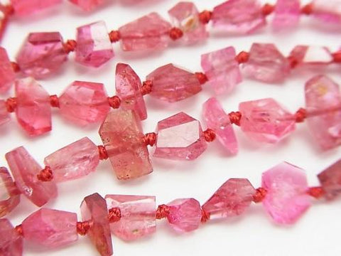 Diamond Cut! High Quality Red Spinel AAA + Faceted Nugget 1 / 4-1strand (aprx.15inch / 38cm)