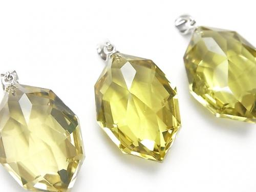 1pc $15.99 High Quality Lemon Quartz with AAA Multiple Facets Pendant Silver 925 NO.2