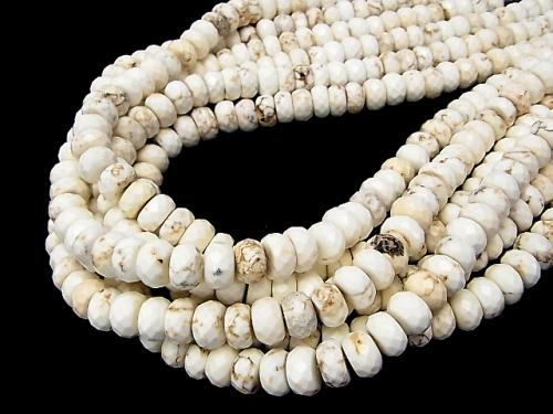 1strand $7.79! Magnesite  Faceted Button Roundel 10x10x6mm 1strand (aprx.15inch/38cm)