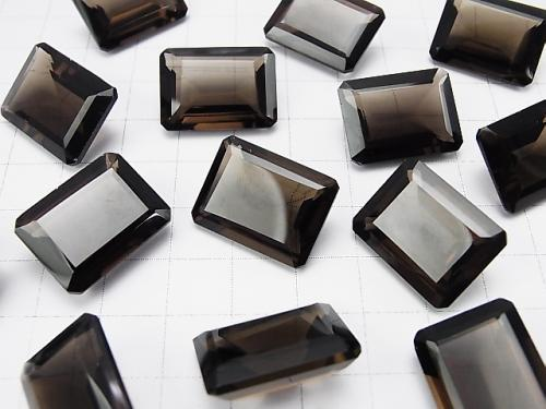 High Quality Smoky Crystal Quartz AAA Undrilled Rectangle Faceted 20 x 15 mm 3pcs $29.99!