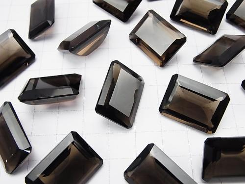 High Quality Smoky Crystal Quartz AAA Undrilled Rectangle Faceted 22 x 16 mm 2 pcs $29.99!