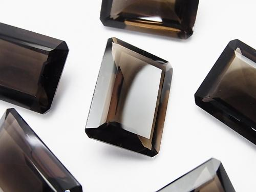High Quality Smoky Crystal Quartz AAA Undrilled Rectangle Faceted 25 x 18 mm 2 pcs $32.99!
