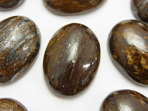 Bronzite  Oval Cabochon 30x22mm 2pcs $4.79!