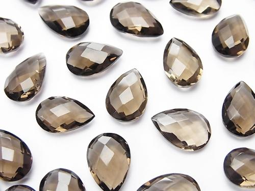 High Quality Smoky Crystal Quartz AAA Undrilled Pear shape Cushion Cut 12x8mm 5pcs $8.79!