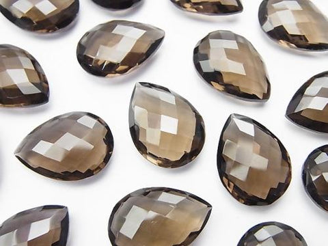 High Quality Smoky Crystal Quartz AAA Undrilled Pear shape Cushion Cut 18x13mm 3pcs $13.99!