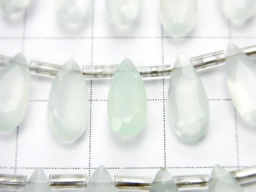 1 strand $19.99! High Quality Green Chalcedony AAA Pear shape Faceted 12 x 5 x 3 mm 1 strand (20 pcs)