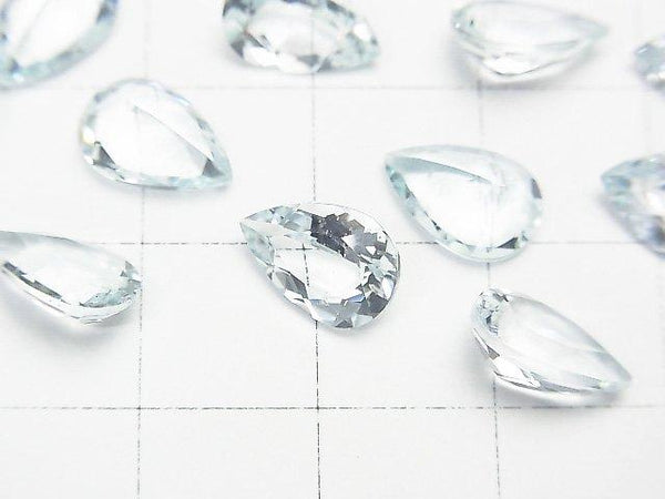 High Quality Aquamarine AAA Undrilled Pear shape Faceted 10x7x4mm 1pc $19.99!