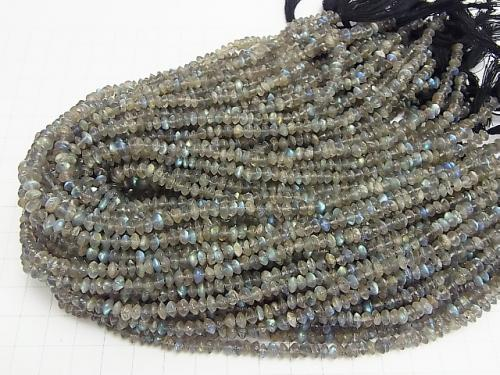 1strand $6.79! High quality Labradorite AAA - Roundel 1strand (aprx.13inch / 32cm)