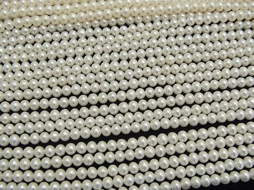 1strand $34.99! Fresh Water Pearl AAA Potato 4mm White 1strand (aprx.15inch / 38cm)