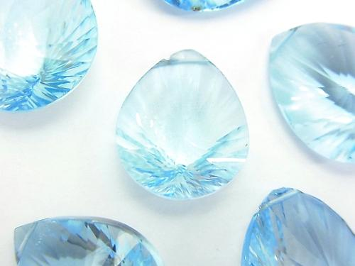 Sale! High Quality Sky Blue Topaz AAA Pear shape Concave Cut 3pcs $39.99