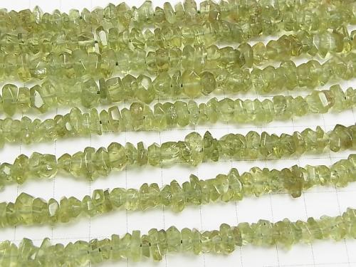 Green Apatite AA ++ Faceted Nugget half or 1strand (aprx.15 inch / 38 cm)