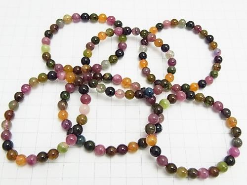1strand $39.99! Multi Color Tourmaline AA ++ Round 6mm 1strand (Bracelet)