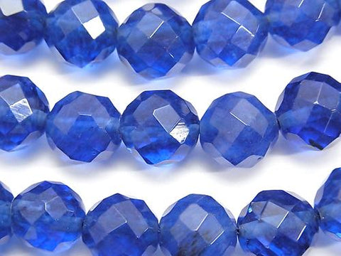 1strand $6.79! Blueberry Quartz Glass  64Faceted Round 12mm 1strand (aprx.15inch/36cm)
