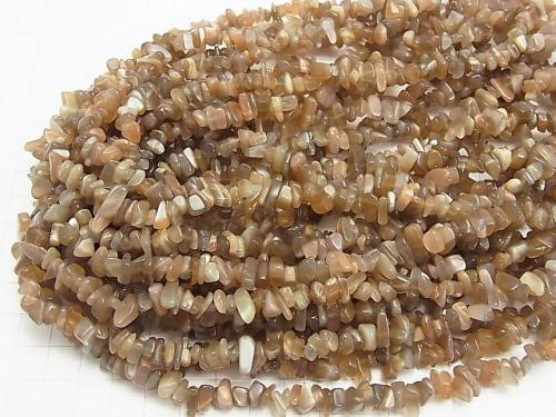1strand $3.79! Brown Moon Stone AA + Chips (Small Nugget) 1strand (aprx.33inch / 84cm)