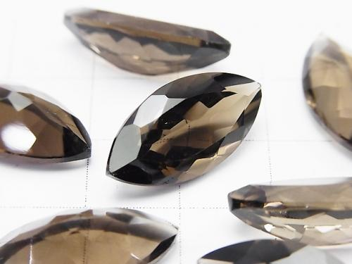 5pcs $13.99! High Quality Smoky Crystal Quartz AAA Undrilled Marquise Faceted 20x10mm 5pcs