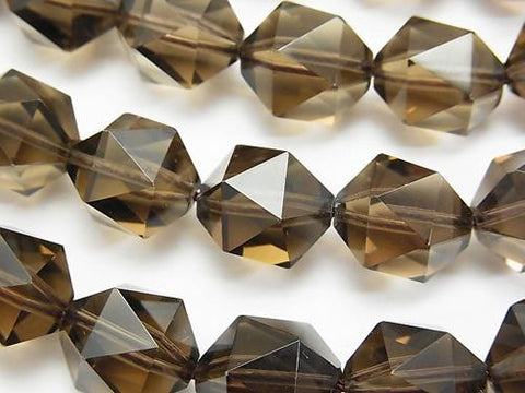 High Quality Smoky Crystal Quartz AAA 20Faceted Round 14mm 1/4 or 1strand (aprx.15inch/36cm)
