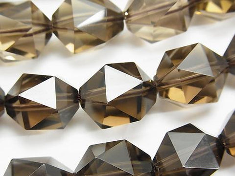 High Quality Smoky Crystal Quartz AAA 20Faceted Round 16mm 1/4 or 1strand (aprx.15inch/36cm)