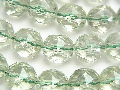 Green Amethyst AAA - AA ++ Star Faceted Round 12 mm 1/4 or 1strand (aprx.15 inch / 36 cm)