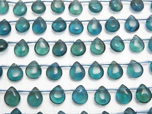 [Video] Blue Green Fluorite AAA Pear shape (Smooth) 12x9x6mm 1strand (aprx.7inch / 18cm)