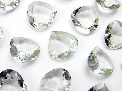 High Quality Green Amethyst AAA Undrilled Chestnut Faceted 13 x 13 mm 5pcs $15.99!