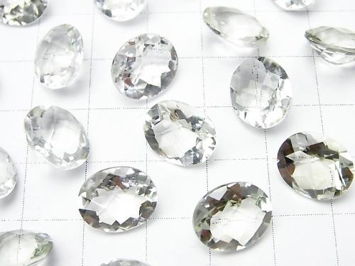 High Quality Green Amethyst AAA Undrilled Oval Faceted 12 x 10 mm 6 pcs $15.99!