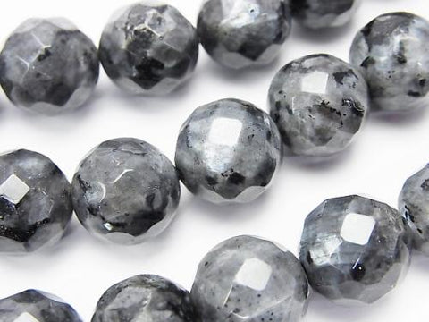 Larvikite  64Faceted Round 12mm half or 1strand (aprx.15inch/38cm)