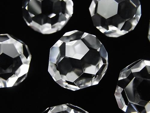 "Rare! Crystal AAA+ ""Buckyball"" Faceted Round 18mm 1pc"