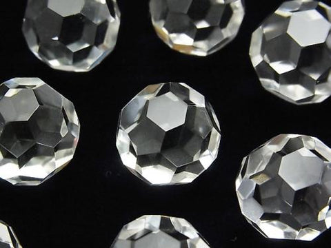 "Crystal AAA + ""Buckyball"" Undrilled Faceted Round 16mm 1pc $9.79!"