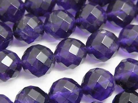 Amethyst AA ++ 64 Faceted Round 12 mm [dark color] 1/4 or 1strand (aprx.15 inch / 37 cm)