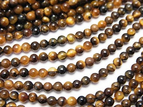 1strand $4.79! Yellow Tiger Eye AAA Round 2mm 1strand (aprx.15inch / 38cm)