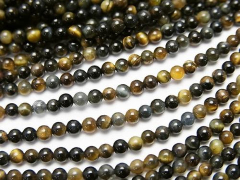 1strand $4.79! Mix Tiger Eye AAA Round 2mm 1strand (aprx.15inch / 38cm)
