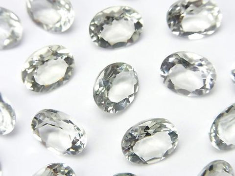 High Quality Green Amethyst AAA Undrilled Oval Faceted 10 x 8 mm 5 pcs $7.79!
