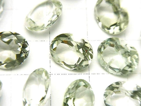 High Quality Green Amethyst AAA Undrilled Oval Faceted 11 x 9 mm 5 pcs $9.79!