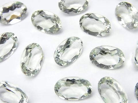 High Quality Green Amethyst AAA Undrilled Oval Faceted 12 x 8 mm 5 pcs $9.79!
