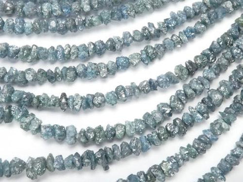 Blue Diamond Chips (Small Nugget) 1/4 or 1strand (aprx.15 inch / 38 cm)
