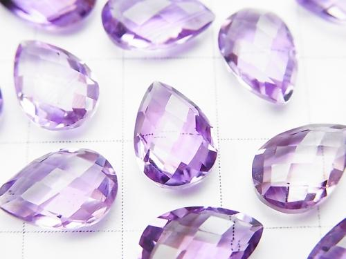High Quality Amethyst AAA Undrilled Pear shape Cushion Cut 12x8mm 4pcs $11.79!