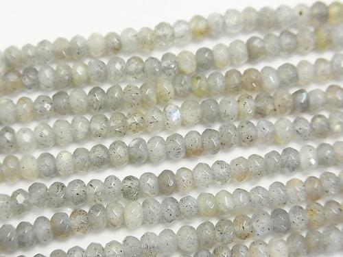 1strand $12.99! Labradorite AA Faceted Button Roundel 4mm 1strand (aprx.15inch/38cm)