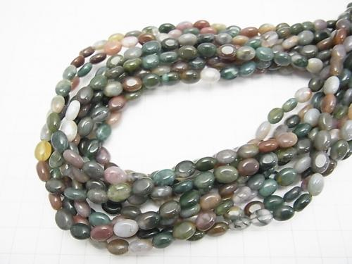 1strand $6.79! Indian Agate Oval 8x6x4mm 1strand (aprx.15inch / 37cm)