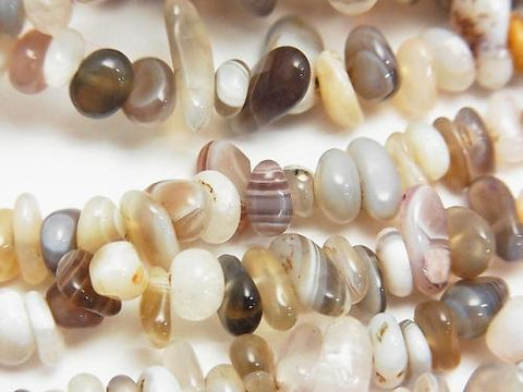 1strand $3.79! Botswana Agate  Chips (Small Nugget ) 1strand (aprx.33inch/84cm) - kenkengems.com