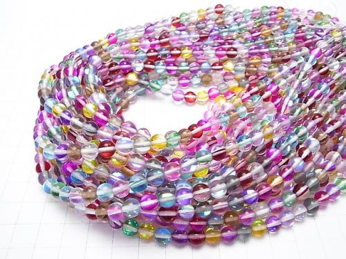1strand $5.79! Multi Color Luna Flash Round 6mm 1strand (aprx.15inch / 36cm)