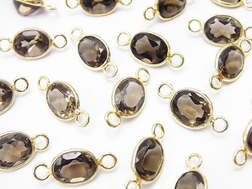 High Quality Smoky Crystal Quartz AAA Bezel Setting Oval Faceted 10x8mm [Both Side ] 18KGP 5pcs $9.79!