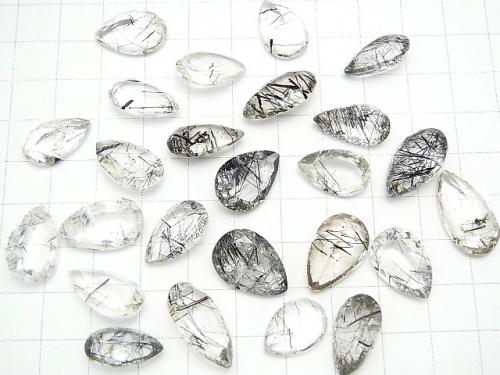 High Quality Tourmaline Quartz AAA Undrilled Pear shape Faceted 3pcs $19.99