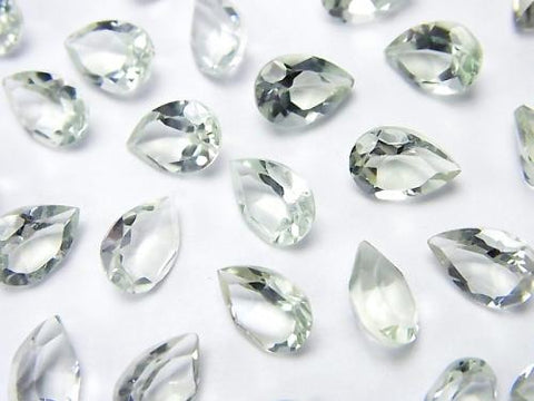 High Quality Green Amethyst AAA Undrilled Pear shape Faceted 9 x 6 x 4 mm 6 pcs $5.79!