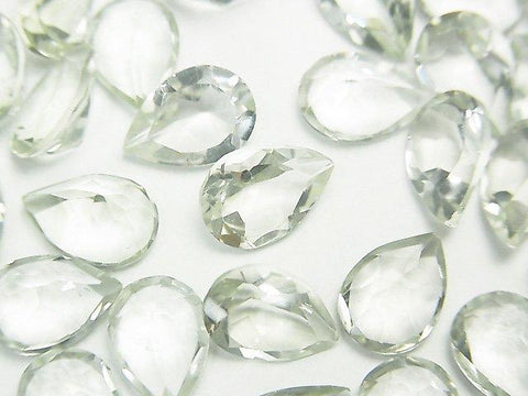 High Quality Green Amethyst AAA Undrilled Pear shape Faceted 10 x 7 x 5 mm 5 pcs $6.79!
